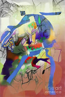 Inner Self Digital Art - Self-renewal  9g by David Baruch Wolk
