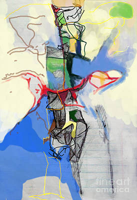 Inner Self Digital Art - Self-renewal 21d by David Baruch Wolk