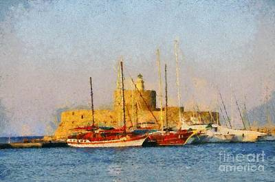Lighthouse Painting - Agios Nikolaos Lighthouse by George Atsametakis