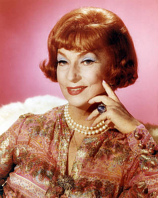 Agnes Moorehead In Bewitched  Print by Silver Screen