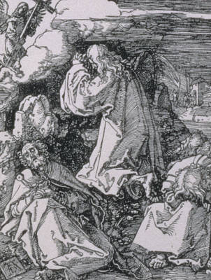 Agony Painting - Agony In The Garden by Albrecht Durer or Duerer