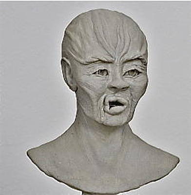 Agonized Face Sculpture - Agony Of Slavery by Ruth Edward Anderson