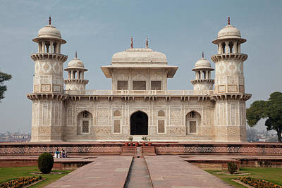 Inlay Photograph - Agra, India Itimad-ud-dawlah, Mausoleum by Charles O. Cecil