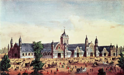 Philadelphia Drawing - Agricultural Hall, Grand United States Centennial Exhibition, Fairmount Park, Philadelphia by American School