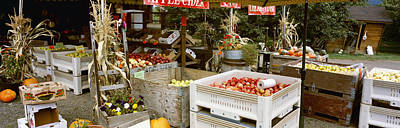 Agriculture - Country Fruit Stand Print by Charles Blakeslee