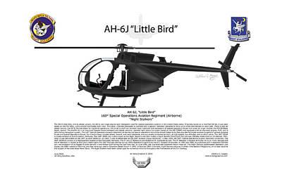 Aircraft Artwork Digital Art - Ah-6j Little Bird by Arthur Eggers