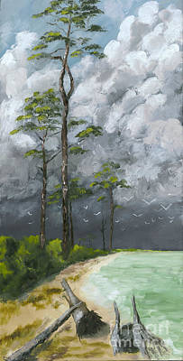 Susan L Richardson Art Painting - Ahead Of The Storm by Susan Richardson