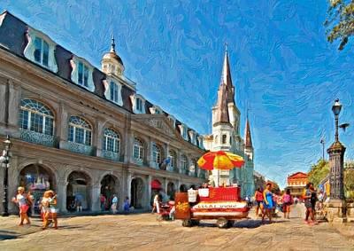 Hot Dog Digital Art - Ahh...new Orleans Impasto by Steve Harrington