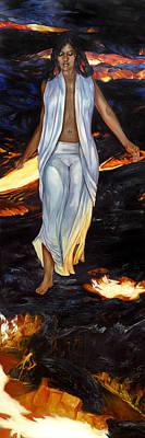 Mauna Kea Painting - Ahi-fire by Rose Adare