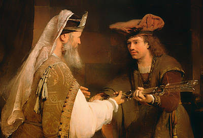 Giving Painting - Ahimelech Giving The Sword Of Goliath To David by Mountain Dreams