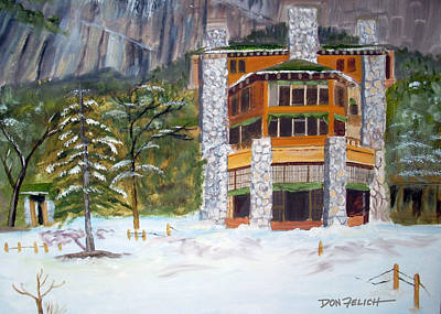 Yosemite Painting - Ahwahnee by Don Felich