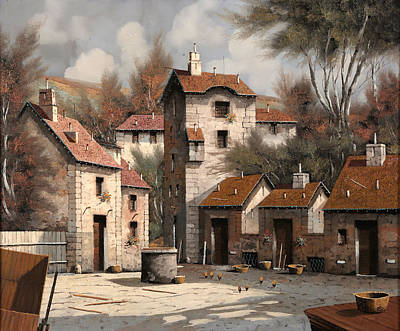 Old Village Painting - Aia Bianca by Guido Borelli