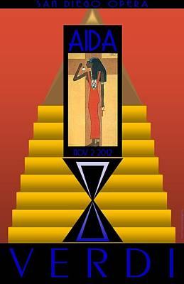 Aida Digital Art - Aida by Steven Boland