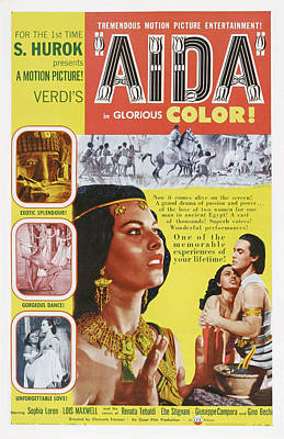 Aida, Us Poster Art, From Left Sophia Print by Everett