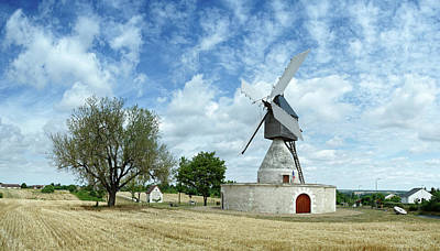 Aigremonts Windmill In A Field Print by Panoramic Images