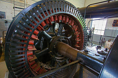 Engine House Photograph - Air Compressor At An Iron Ore Mine by Jim West