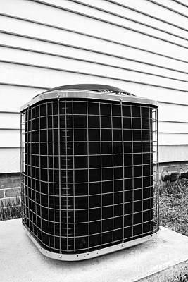 Air Conditioner Condenser Print by Olivier Le Queinec