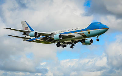 Potus Photograph - Air Force One  by Puget  Exposure