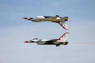 Solano Photograph - Air Force Thunderbirds by Bill Gallagher