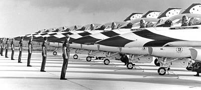 Euphoria Photograph - Air Forces Thunderbirds by Retro Images Archive