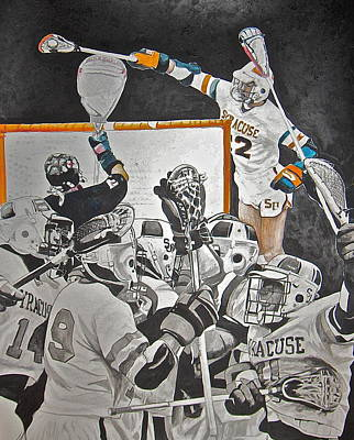 Lacrosse Painting - Air Gait by Darryl Mallanda