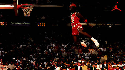 Air Jordan In Flight Print by Brian Reaves