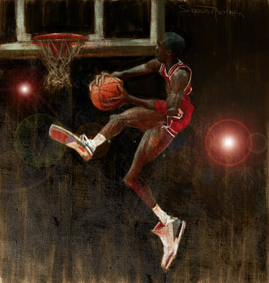 Basketball Abstract Painting - Air Jordan by Jumaane Sorrells-Adewale