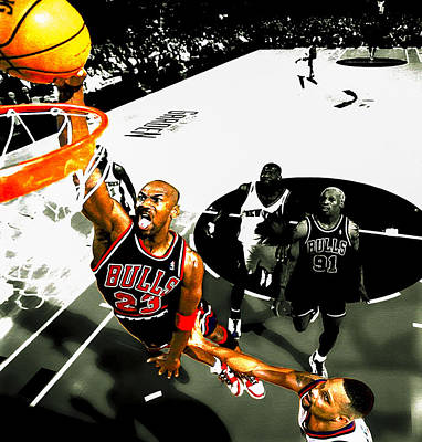 Air Jordan Rises Print by Brian Reaves