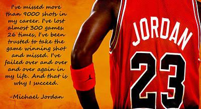Air Jordan Success Quote Print by Brian Reaves