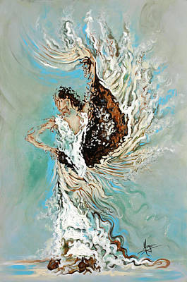 Abstract Movement Painting - Air by Karina Llergo Salto
