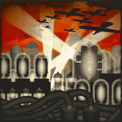 Listening Digital Art - Air Raid by Milton Thompson