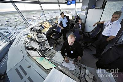 Air Traffic Control, Domodedovo Airport Print by Ria Novosti