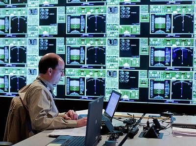 Simulation Photograph - Air Traffic Operations Research by Nasa