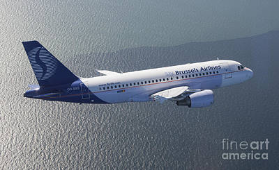 319 Photograph - Airbus 319 Sn Brussels Airlines  by Antoine Roels