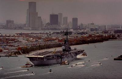 1990 Photograph - Aircraft Carrier  by Retro Images Archive