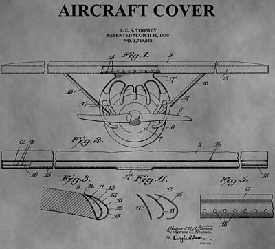 Aviator Drawing - Aircraft Cover by Dan Sproul