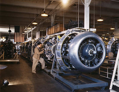 B25 Photograph - Aircraft Factory, 1942 by Granger