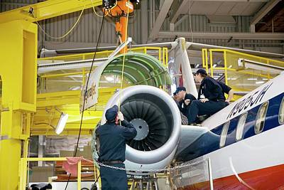 American Airlines Photograph - Aircraft Maintenance Training by Jim West