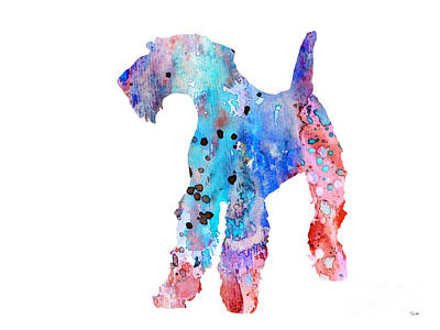Dog Watercolor Painting - Airedale Terrier  by Luke and Slavi