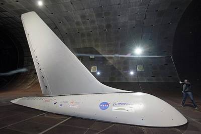 Airplane Flow Control Wind Tunnel Test Print by Nasa/dominic Hart