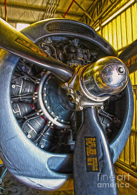 Airplane Propeller - 06 Print by Gregory Dyer