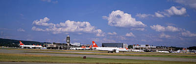Commercial Photograph - Airplane Taking Off, Zurich Airport by Panoramic Images