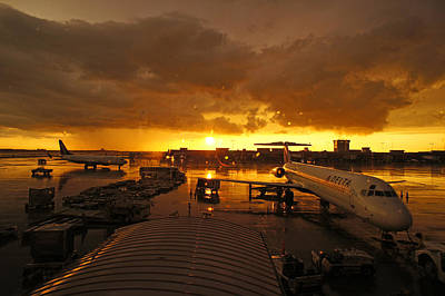 Airport After The Rain Print by Chikako Hashimoto Lichnowsky