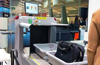 Airport Baggage X-ray Scanner. Print by Mark Williamson
