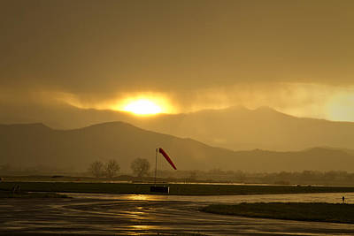 Corporate Art Photograph - Airport Runway Gold by James BO  Insogna
