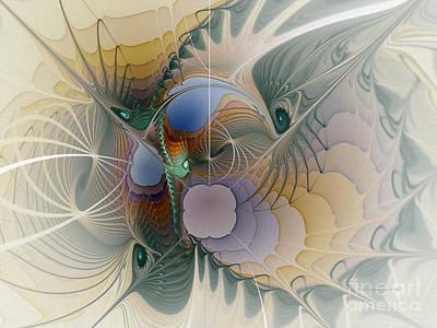 Spatial Digital Art - Airy Space-fractal Art by Karin Kuhlmann