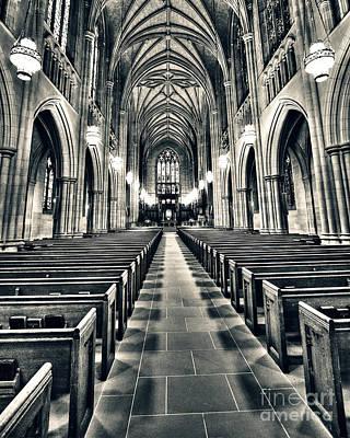 Religious Art Photograph - Aisle by Emily Kay