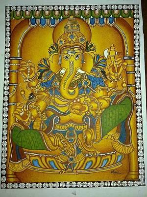Vinayaka Painting - Aiswarya Ganapathy by Anjana Prakash