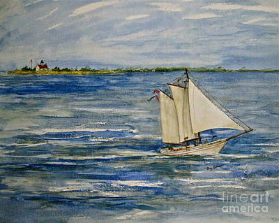 Cumberland River Painting - A J Meerwald At East Point Light  by Nancy Patterson
