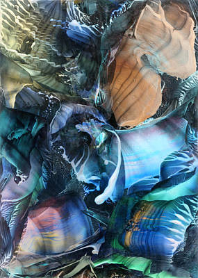 Encaustic Painting - Akashic Memories From Subsurface by Cristina Handrabur